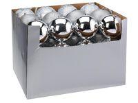 купить Шар елочный 120mm матовый, глиттер, глянцев, серебряный в Кишинёве