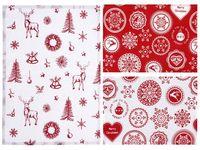 Салфетка рождественская 48Х33сm красн с оленями