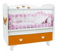 Bambini Double New Orange Butterflies