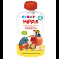 Hipp Фруктовый сюрприз из яблок и бананов с печеньем 4+ мес., 100 г