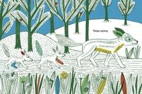 купить Разноцветный лес. Раскраска с наклейками в Кишинёве