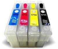 Перезаправляемые картриджи Epson T1711-T1714  new version