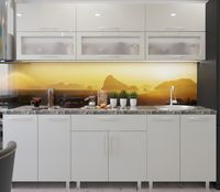 Кухонный гарнитур Bafimob Modern (High Gloss) 2.0m glass Beige