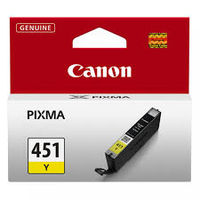 Ink Cartridge Canon CLI-451Y, Yelow
