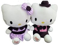 """купить Игрушка мягкая """"Hello Kitty"""" 31cm клетчатый бант в Кишинёве"""