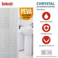 Шторка для ванной Tatkraft Chrystal 3D 180 см х 180 см 18129