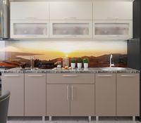 Кухонный гарнитур Bafimob Modern (High Gloss) 2.0m glass Beige/Cappucino
