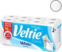 Бумага туалетная VELTIE Classic 2-слойная, 16 рул, белая