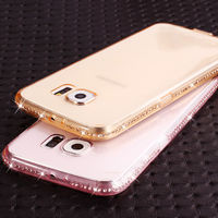 Fashion Diamonds TPU case Samsung S7, Gold