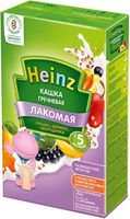 Heinz Лакомая каша гречневая молочная грушка, абрикос, смородинка, 5+мес. 200г