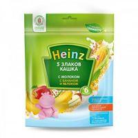 Heinz каша 5 злаков молочная с бананом и яблоком, 6+мес. 250г