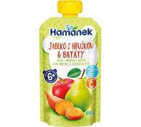 Пюре Hamanek яблоко, груша и сладкий картофель с 6 месяцев, 120г