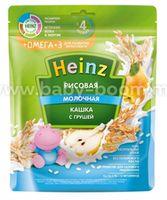Heinz Кашка молочная рисовая с грушей и Омега 3 (с 4 м+) 200 гр.
