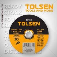 Диск отрезной по металу 180x1.6x22 Tolsen