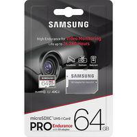 Samsung PRO Endurance 64GB MicroSD (Class 10). UHS-I (U3)+SD adapter,