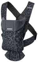 Анатомический рюкзак-кенгуру BabyBjorn Mini Anthracite/Leopard, 3D Mesh