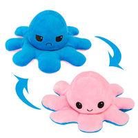 Octopus Plush Reversible, Dark Blue & Pink