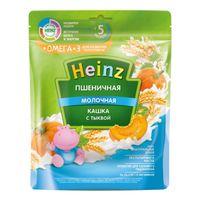 Heinz каша пшеничная молочная c тыквой Omega 3, 5+мес. 200г