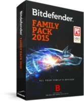 BITDEFENDER Family pack 1 year 3 users, черный