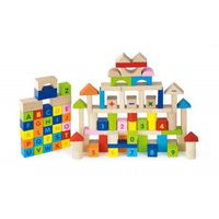 100pcs Block Set - Alphabet & Numbers