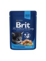 Brit Premium Cat Pouches Chicken Chunks for Kitten(Кусочки c курочкой. Влажный корм класса премиум для котят)