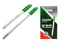 Ручка гелевая PT-1159 soft ink,1mm зеленая