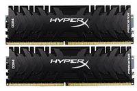 16 ГБ DDR4-3333 МГц Kingston HyperX Predator (комплект из 2x8 ГБ) (HX433C16PB3K2 / 16), CL16-18-18, 1,35 В, черный