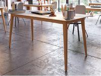 купить Стол с деревянной поверхностью и деревянными ножками, 1600x800x750 мм, серый в Кишинёве