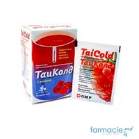 TaiCold cu aroma de zmeura pulb./sol. orala 500 mg/2 mg/30 mg  N10