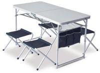 Pinguin Set table + 4 stools Petrol