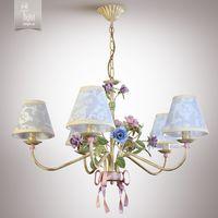 купить N&B Light Люстра Романтика 6405-1 крем/розовый/сиреневый в Кишинёве