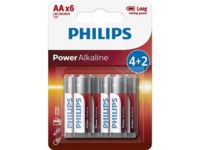 Батарейка Philips Power Alkaline  AA B6 (6 шт.), LR6 Power Alkaline B6