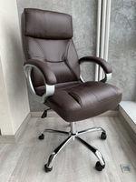 Офисное кресло модель 7037 коричневый