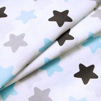 Пеленка байковая (100х80 см) голубые/серые звезды