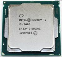 """CPU Intel Core i5-7600 3.5-4.1GHz (6MB, S1151,14nm,Intel Integrated HD Graphics 630,65W) Tray 4 cores, 4 threads,Intel HD 630"""