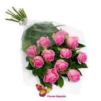 купить Розовый букет из 11 роз  60-70CM в Кишинёве