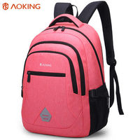 "Pюкзак Aoking F77037 для ноутбука 15.6"", водонепроницаемый, розовый"