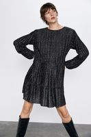 Платье ZARA Чёрный в горошек 6050/637/084