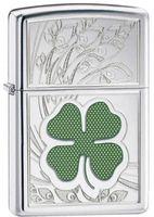 Zippo 24699 Four Leaf Clover Luck