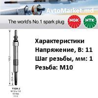 DOBLO Cargo 1.9 JTD 105 л.с. 1998-2001 Свеча накала
