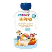 Hipp Hippis пюре персик банан и манго, 6 мес, 100 гр