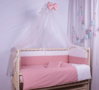 Set lenjerie Elegance roz 9 piese