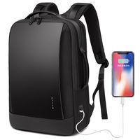 """Kлассический деловой рюкзак Bange S-52 для ноутбука дo 15.6"""", с USB портом, водонепроницаемый, черный"""