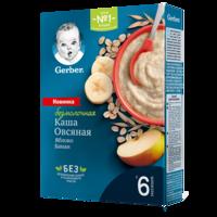 Terci Gerber din ovăz fără lapte cu mere și banane (6+ luni), 180 gr.