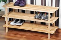 Kesper Полка для обуви 3 ярусная деревянная 77х26х40см 69723