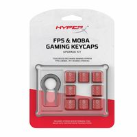 cumpără HYPERX FPS & MOBA Gaming Keycaps Upgrade Kit, US, Red, Textured for grip and coated for protection, HyperX keycap removal tool included în Chișinău
