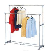 """Стойка для одежды Tatkraft """"Big Party"""" , с регулируемой шириной, двойная, цвет: серый 13322"""