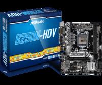MB S1151 ASRock B250M-HDV (Intel B250, mATX) 2xDDR4(DDR4 2133 memory),DVI-D,HDMI,PCI-Ex.16x1 ,PCI-Ex1x1,6xSATA 6GB/s,1 x SATA Express,4+2xUSB 2.0,4+2xUSB 3.0,1xGbit LAN,Audio 8ch