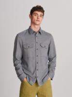 Рубашка RESERVED Синий/белый