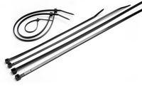 купить Стяжки нейлоновые для кабеля FHS 4x300 чёрные (100шт) в Кишинёве